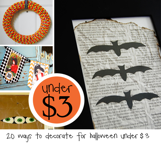 20 ways to decorate for Halloween for under $3!