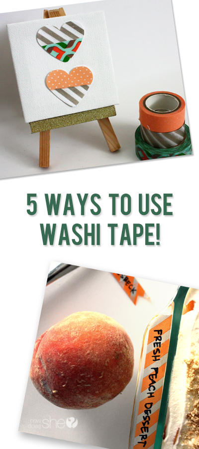 Five Easy Ways to Use Washi Tape