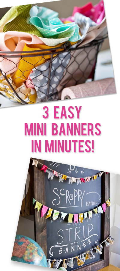 3 Easy Mini Banners in Minutes!