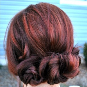 quick simple updo