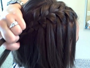 waterfall braid for short hair