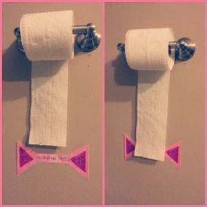 toilet paper measurement hack