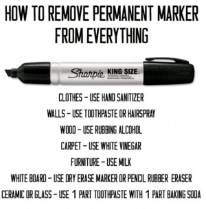 remove permanent marker instructions