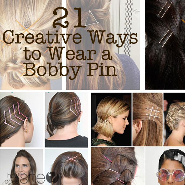 21 Creative Ways to Wear a Bobby Pin