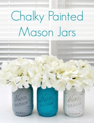 Chalky-Painted-Mason-Jars