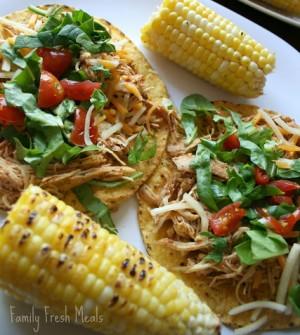 Cool ranch crockpot chicken tacos