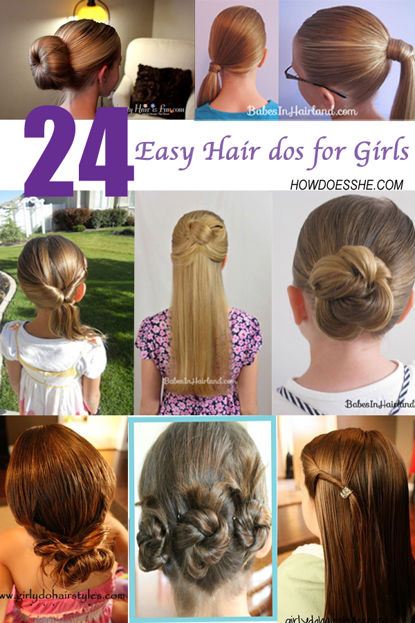 24 Easy Hair Dos For Girls How Does She