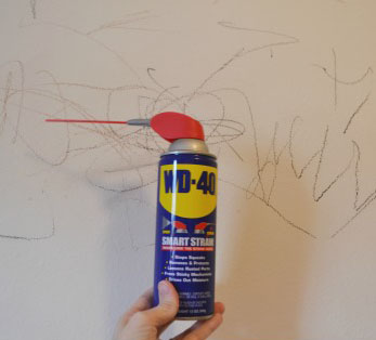 Remove Crayon Marks From Walls. Here. Uses For WD40 Around The House