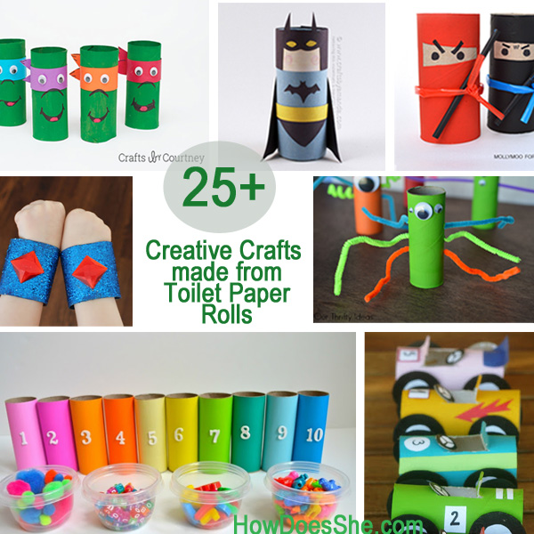 25 toilet paper roll crafts new calendar template site for Paper roll projects