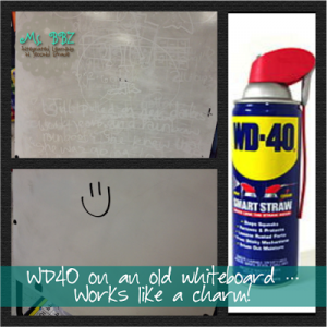 how to clean wd40 residue
