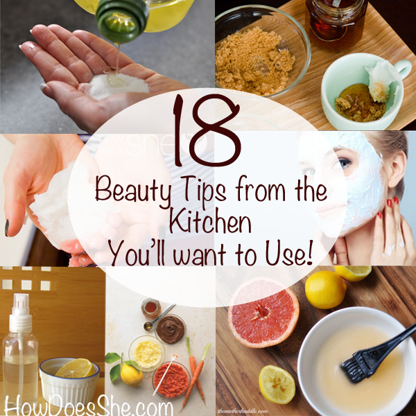 beauty tips from the kitchen