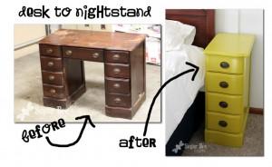desk to nightstand tutorial