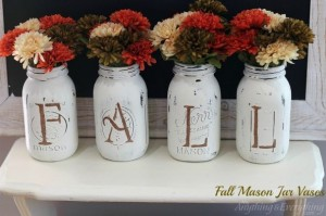 fall-mason-jar-vases-chalk-paint-mason-jars-repurposing-upcycling