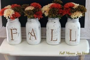 fall-mason-jar-vases-chalk-paint-mason-jars-repurposing-upcycling