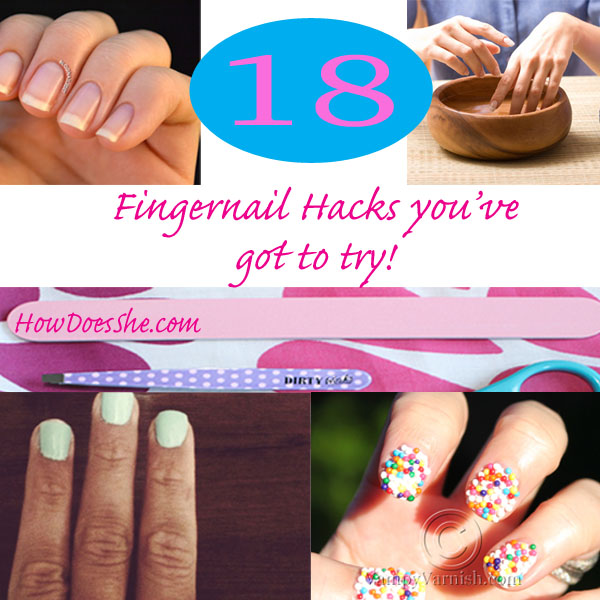 18 fingernail hacks youve got to try how does she fingernail collage 1 solutioingenieria Images