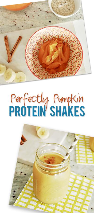 healthy pumpkin protein shakes pinterest image
