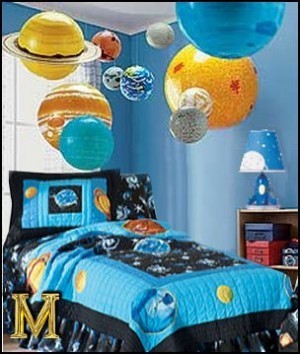 13 amazing boy bedrooms to inspire you how does she for Outer space decor ideas