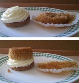 best way to eat a cupcake