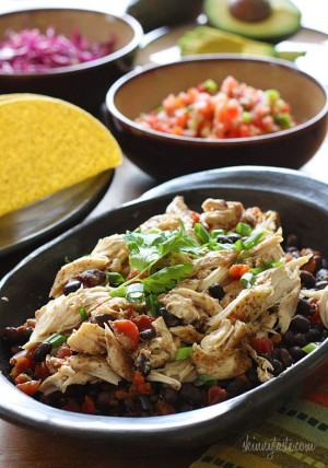 slow-cooker-chicken-and-black-bean-tacos
