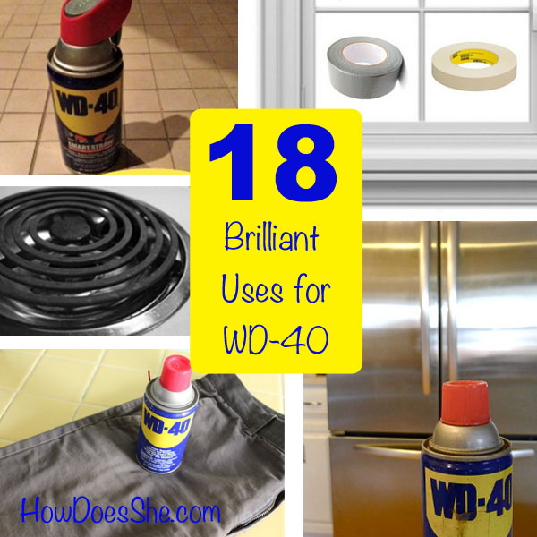 Uses for WD40 Around The House