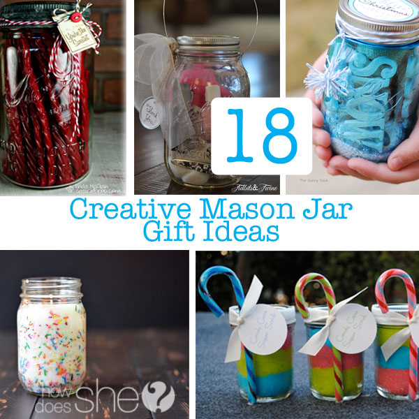 Creative mason jar christmas gifts