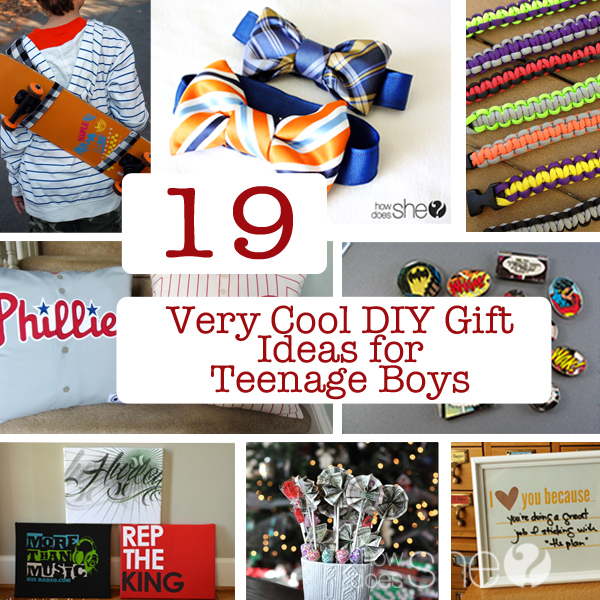 19 Very Cool DIY Gift Ideas For Teenage Boys