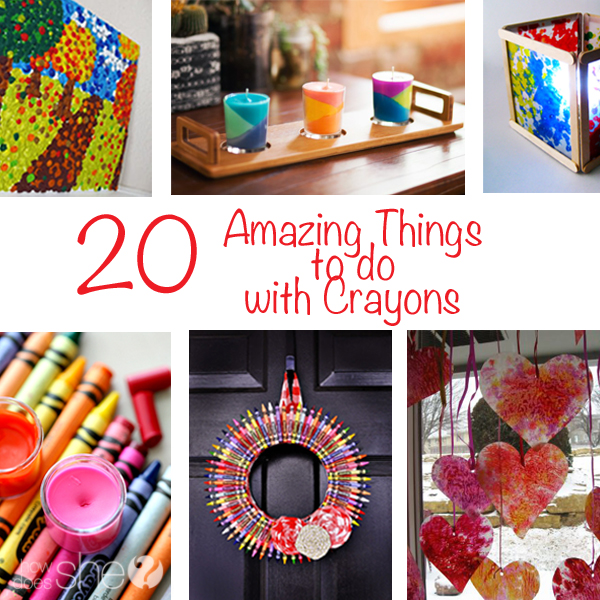 20 Amazing Things to do with Crayons