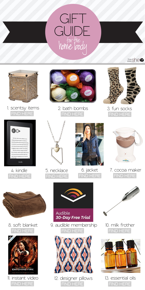 2014 Gift Guides  – For the Homebody