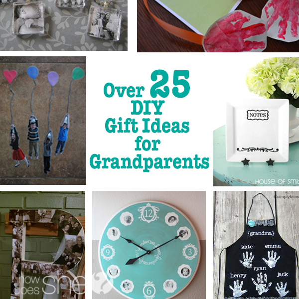 Handmade Christmas Gift Ideas For Grandparents Over 25 diy gift ideas ...