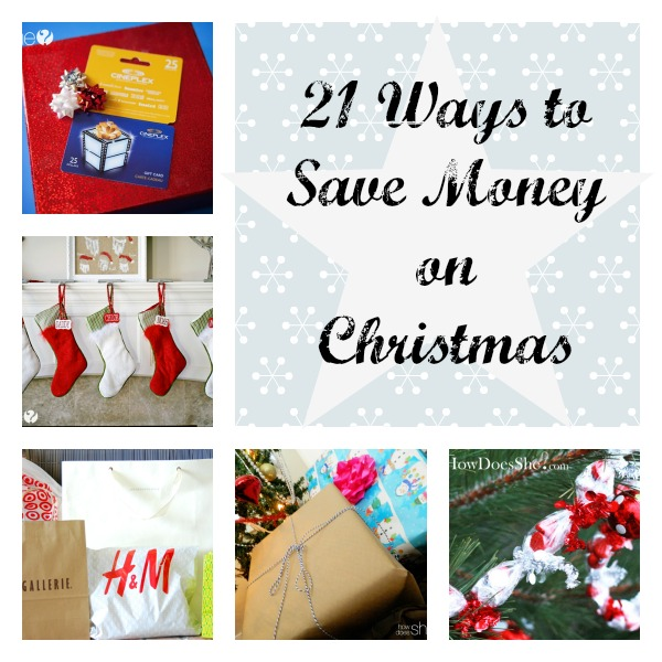 Save Money Christmas collage