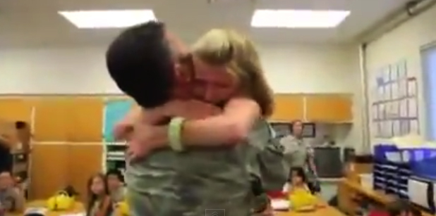Soldier greets daughter 1