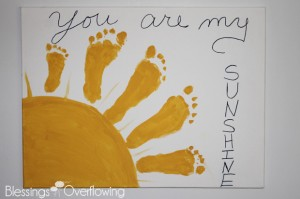 Gift ideas for grandparents that solve the grandparent gift dilemma you are my sunshine footprint art negle
