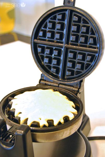 using a waffle iron to make waffle cornbread