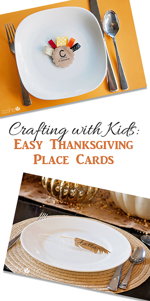 DIY Place Cards for the Kids' Table. All kids love seeing their name in print. Have them color and decorate their own place cards. Complete your Thanksgiving table with printed place cards. Just fill in the name of each guest, or if you're serving buffet style, use these cards .