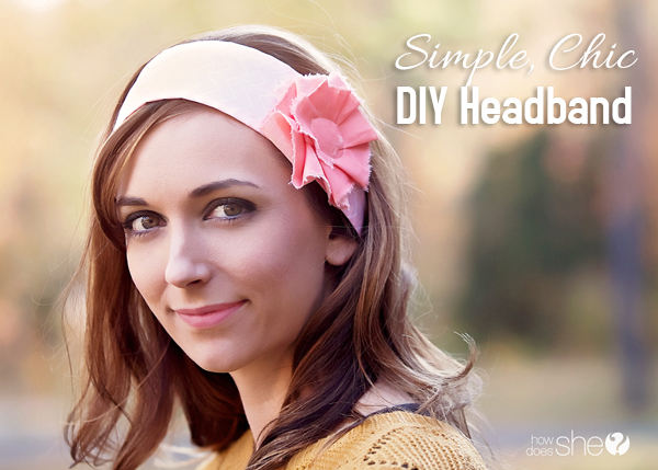 Simple, Chic DIY Headband