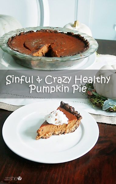 Healthy Pumpkin Pie Recipe--Gluten free, Dairy free, Sugar free