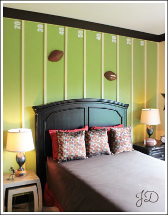 sports themed bedroom a
