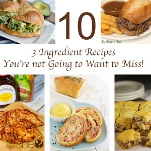 10 3 Ingredient Recipes You're not Going to Want to Miss