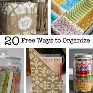 20 Free Ways to Organize