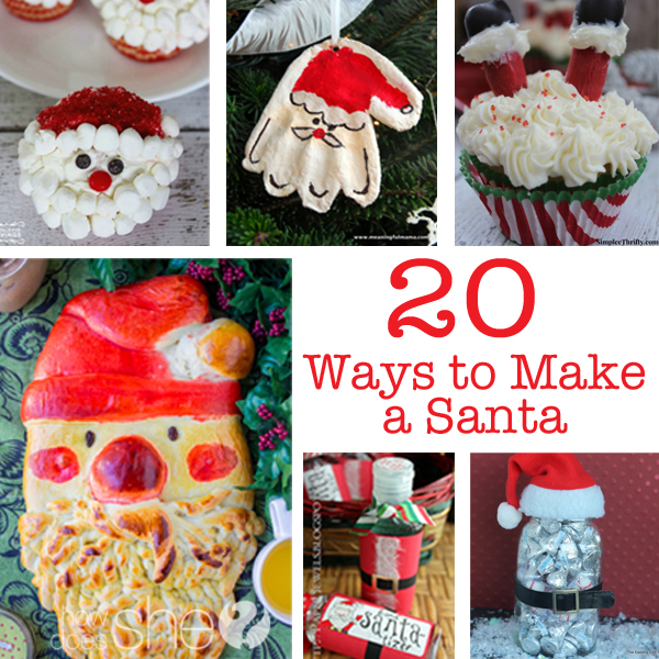 20 Ways to Make a Santa