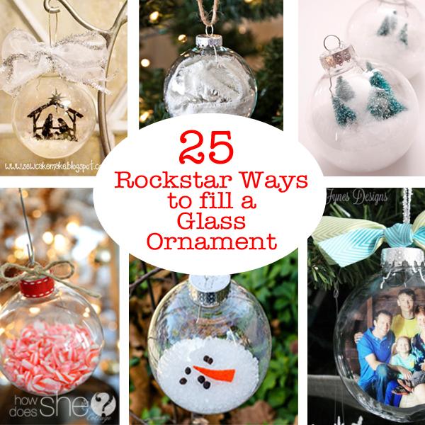25 Rockstar Ways to fill a Glass Ornament