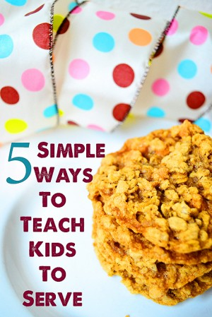 simple ways to teach kids to serve