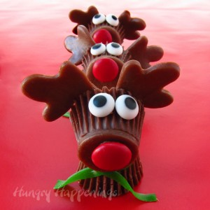 Reese's Cup Reindeer, Reese's Cup Rudolph, Kid's craft ideas for Christmas copy