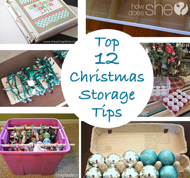 Top 12 Christmas Storage Tips