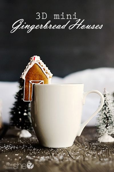 3D Mini Gingerbread Houses