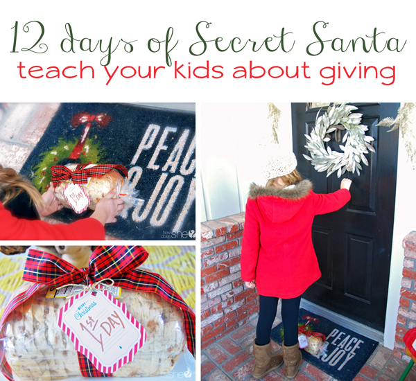 12 Days of Secret Santa–Fun ways to teach your kids about giving
