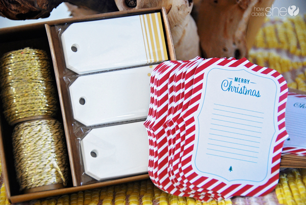 gift tags for 12 days of Christmas