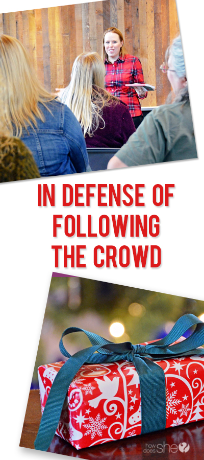In Defense of Following the Crowd