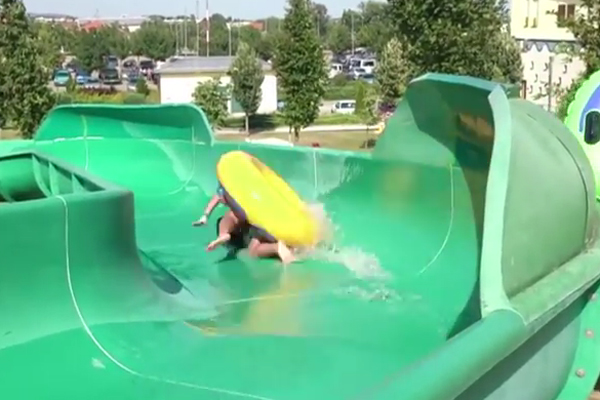 Want to go on this water slide?  I think not.