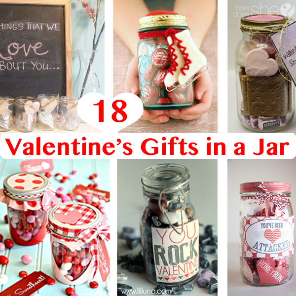 18 Valentine's Gifts in a Jar
